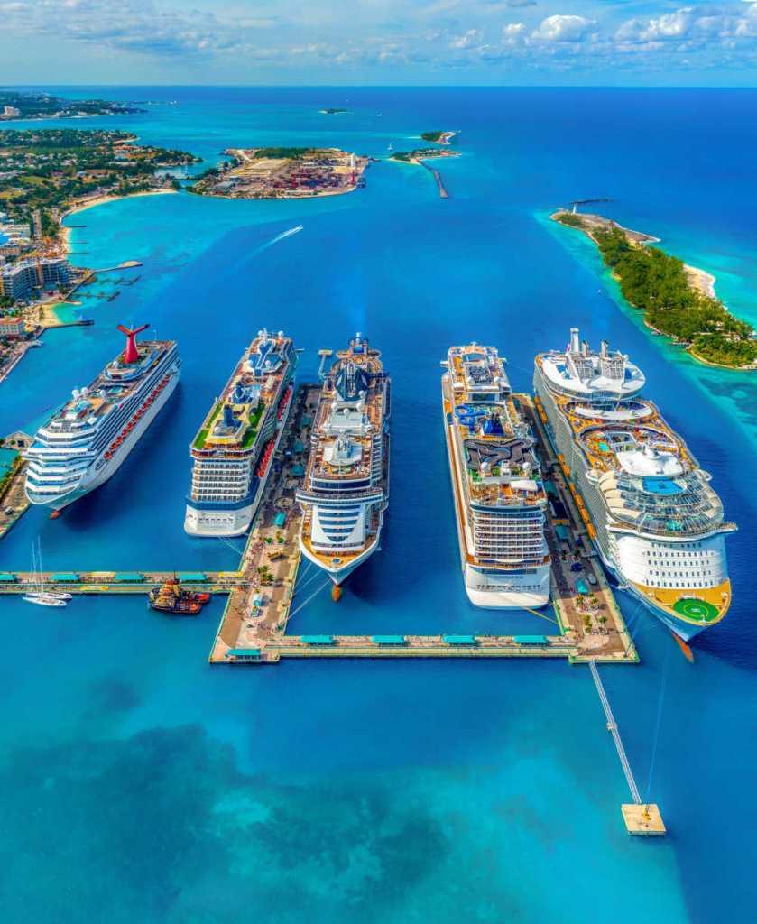 4 cruise ships in dock