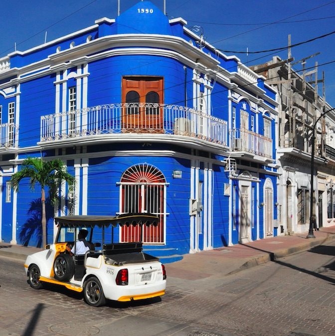 Centro historico buildings mazatlan