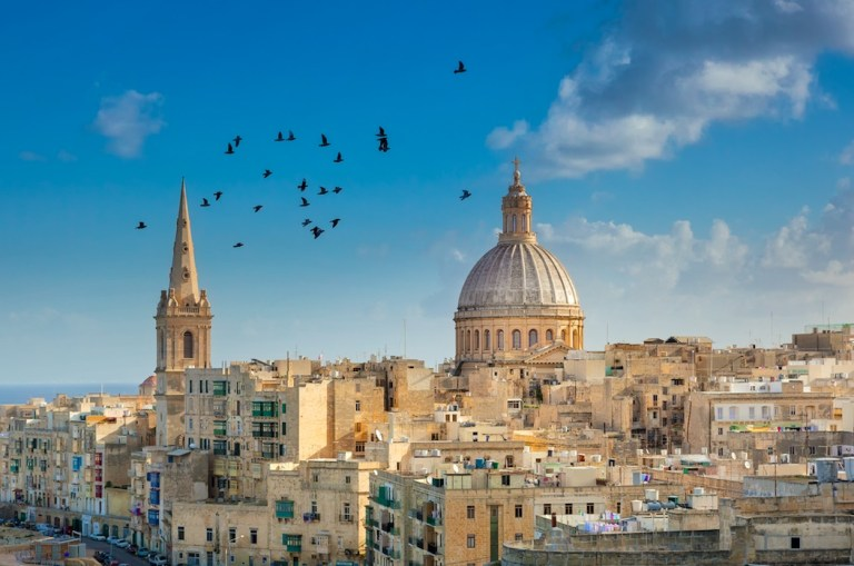 city skyline view of malta