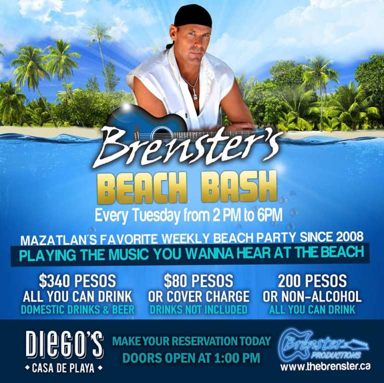 all you can drink prices for Brenster's beach bash