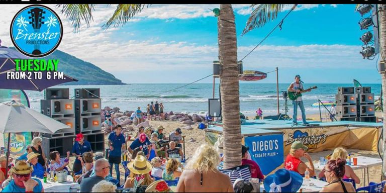 Beach party in mazatlan