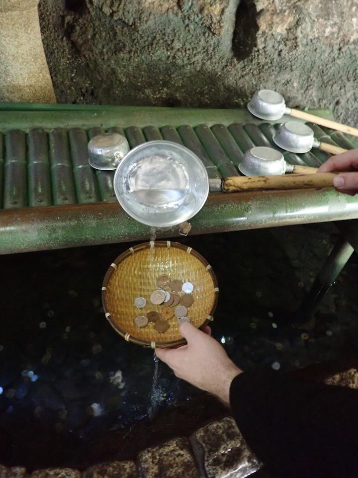 Washing money at Zeniarai Benzaiten