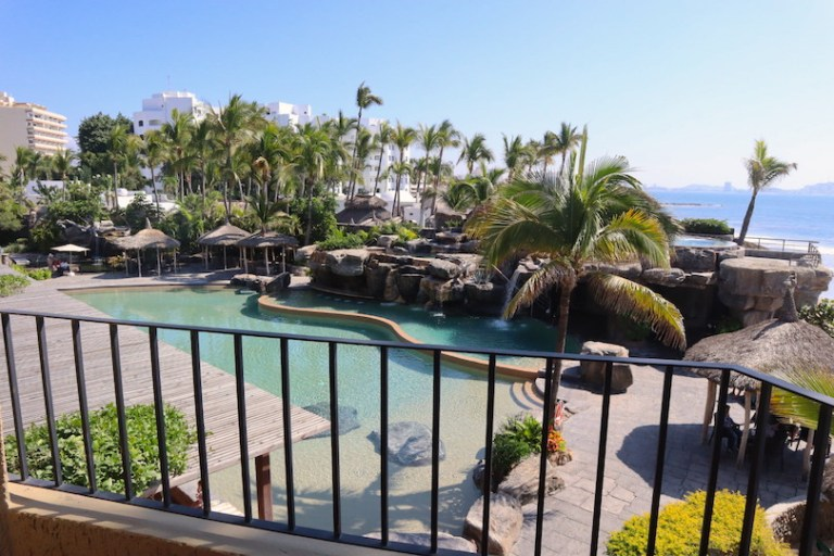 the pool and grounds at playa mazatlan hotel