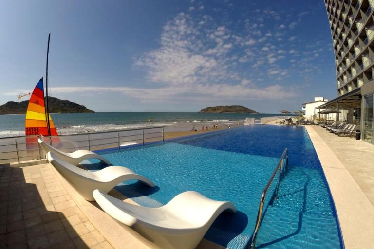 Heated pool at Holiday inn mazatlan
