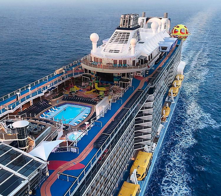 Royal Caribbean ship deck