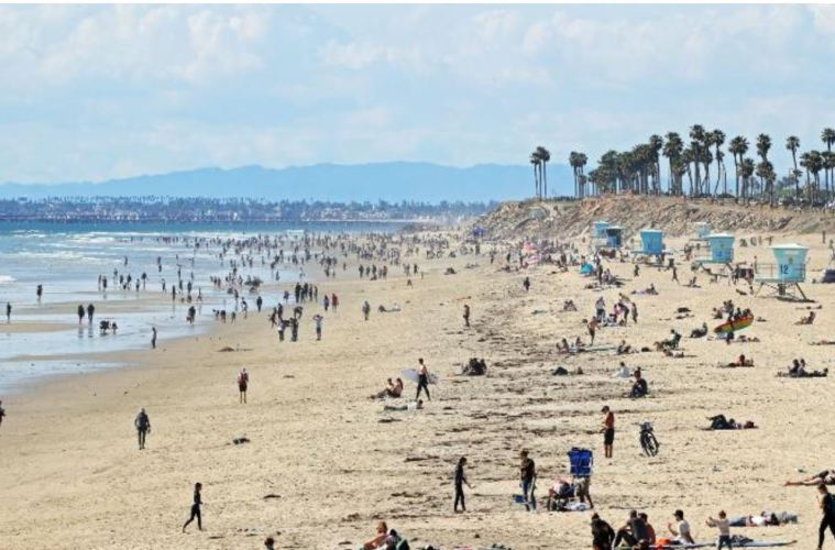 busy california beaches coronavirus