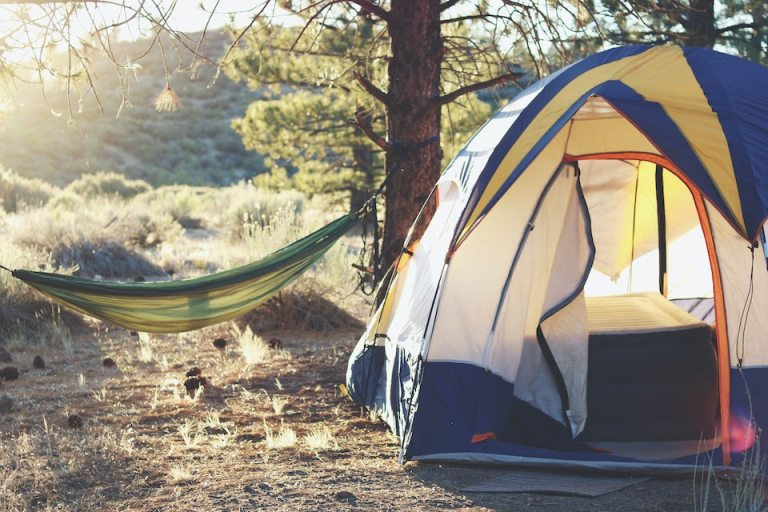 camp out in your backyard while you cant travel