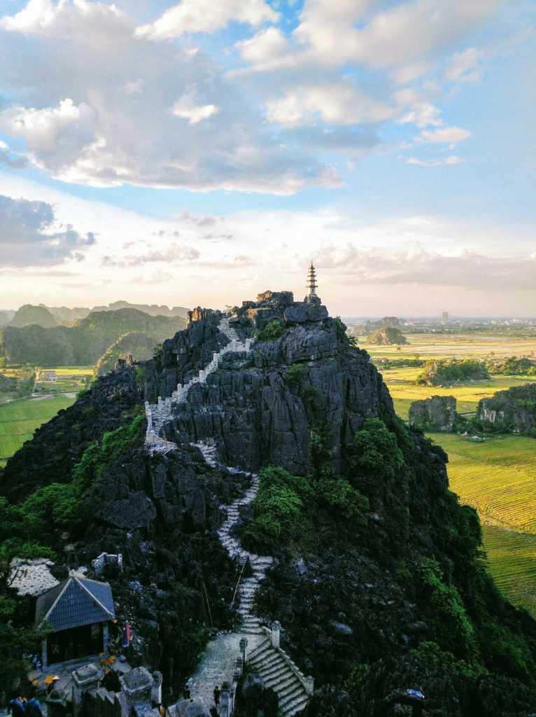 Pagoda on hill in vietnam
