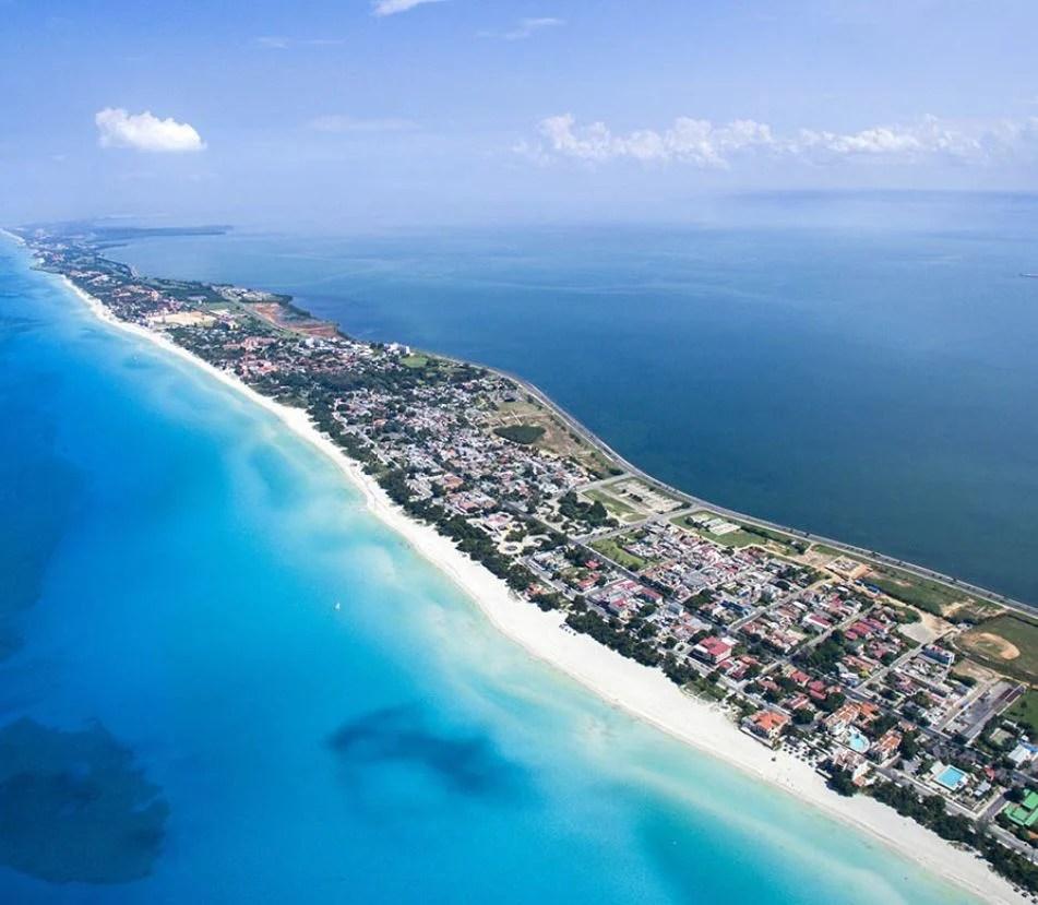 Veradero coast aerial view