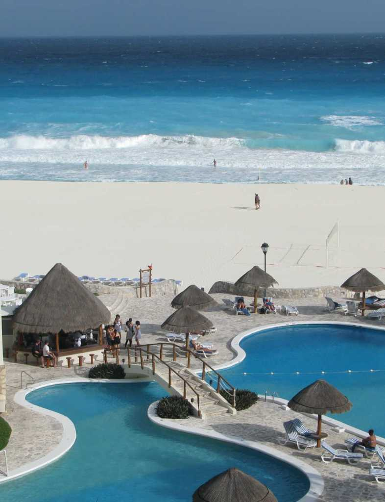 cancun pool on beach