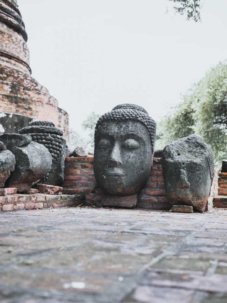rock statue in thailand