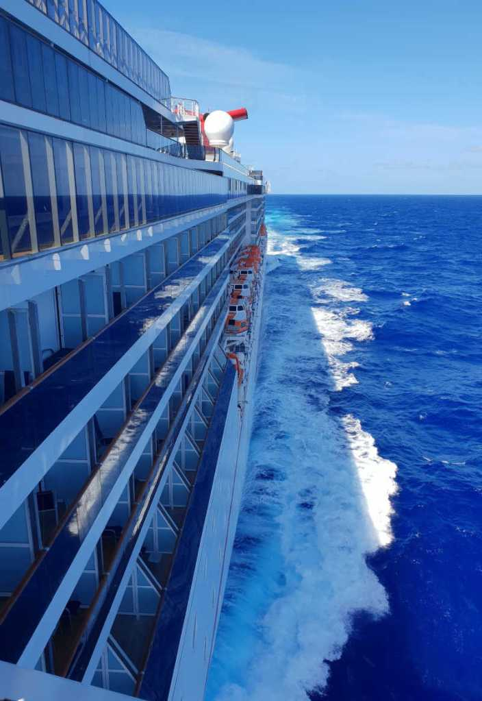 Carnival Cruise Ship on sailing on open ocean