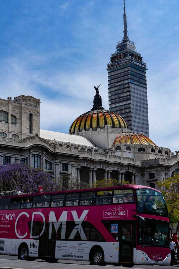 Mexico City bus on street