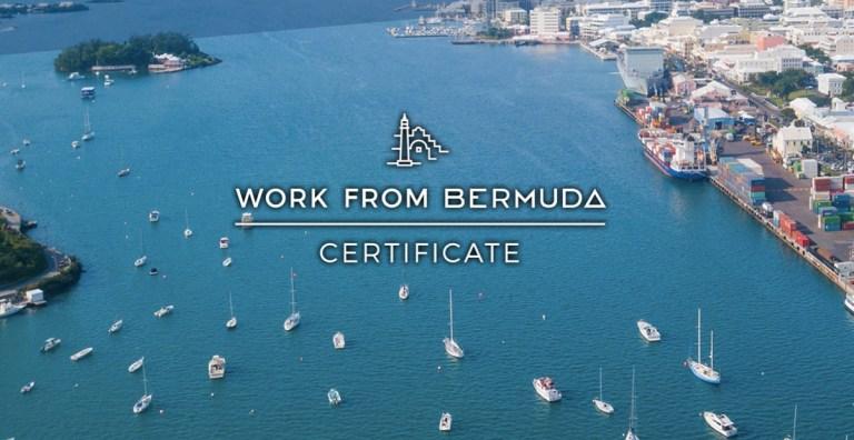work from home bermuda certificate