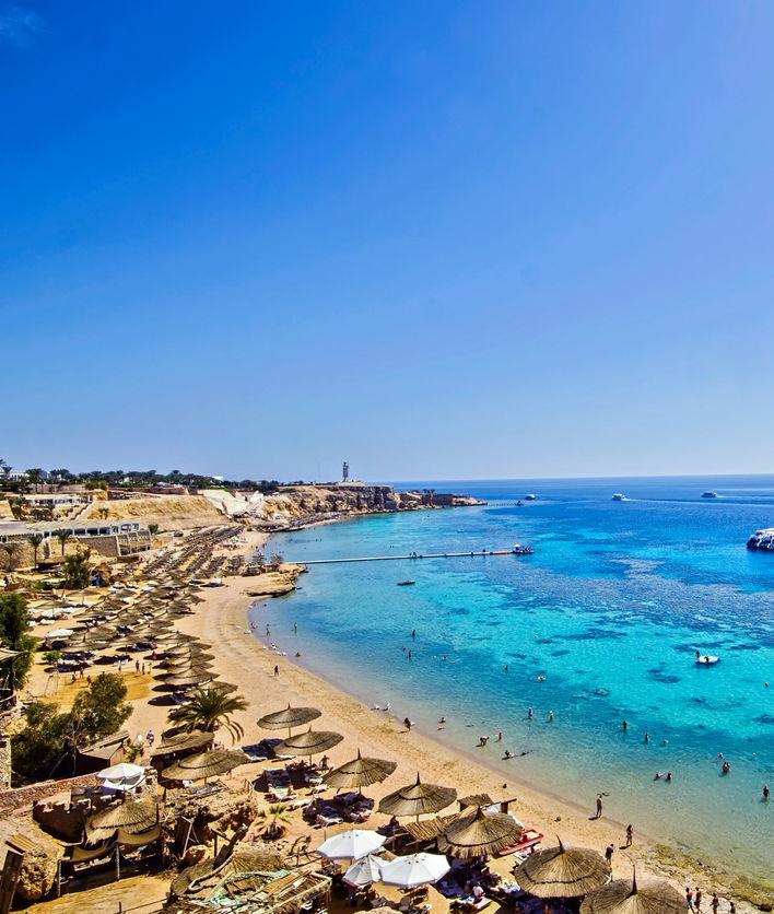 Beach in Sharm el Sheikh, Egypt