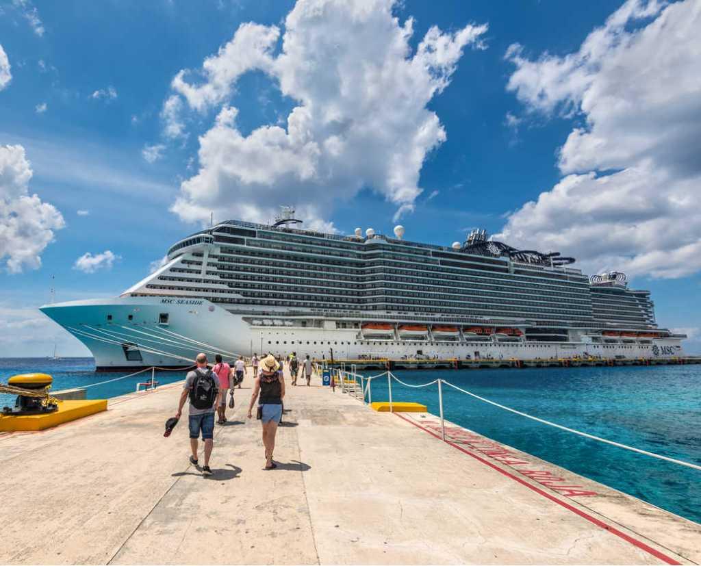 Msc cruise ship docked