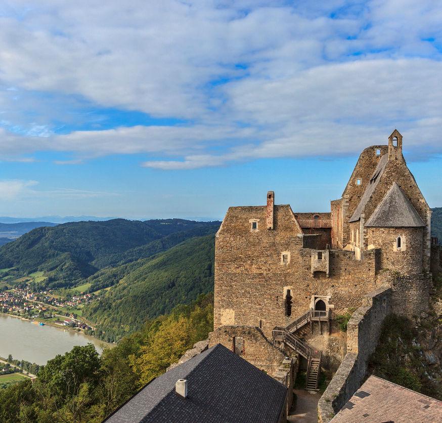 12 Century Aggstein Castle in Austria