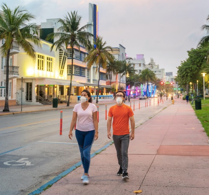 empty streets of Miami beach