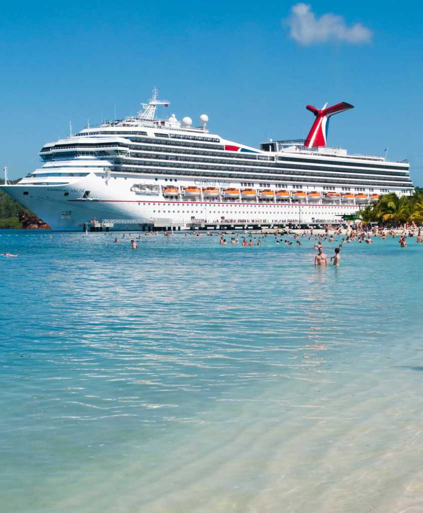 Carnival Cruise ship in the Caribbean