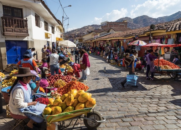 Cusco, Peru street markets