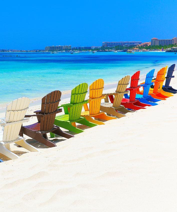 Aruba Chairs on Beach