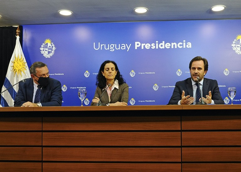 Uruguay president announcing borders remain closed