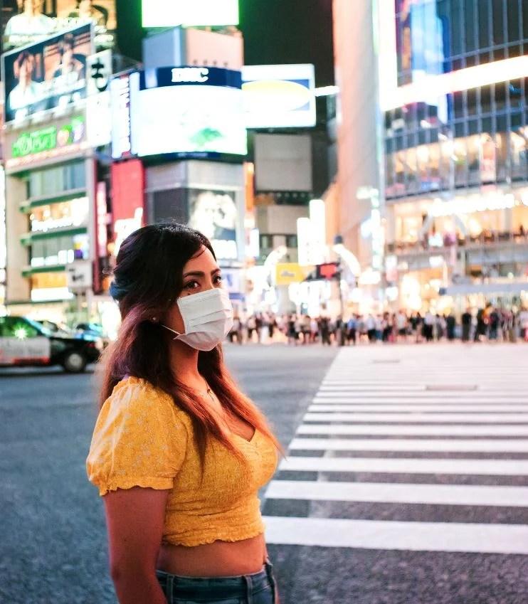 japan face mask shibuya crossing