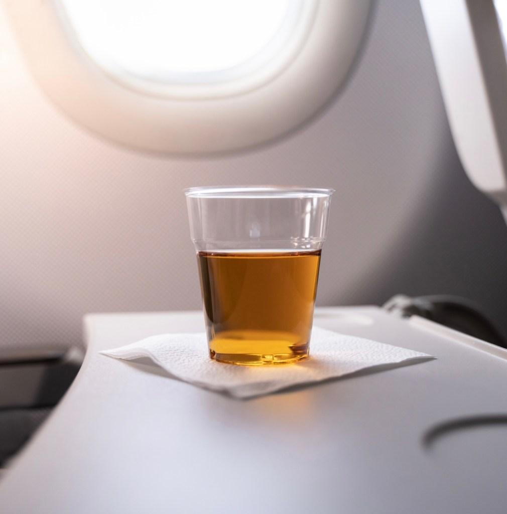 Alcohol on airplane flight