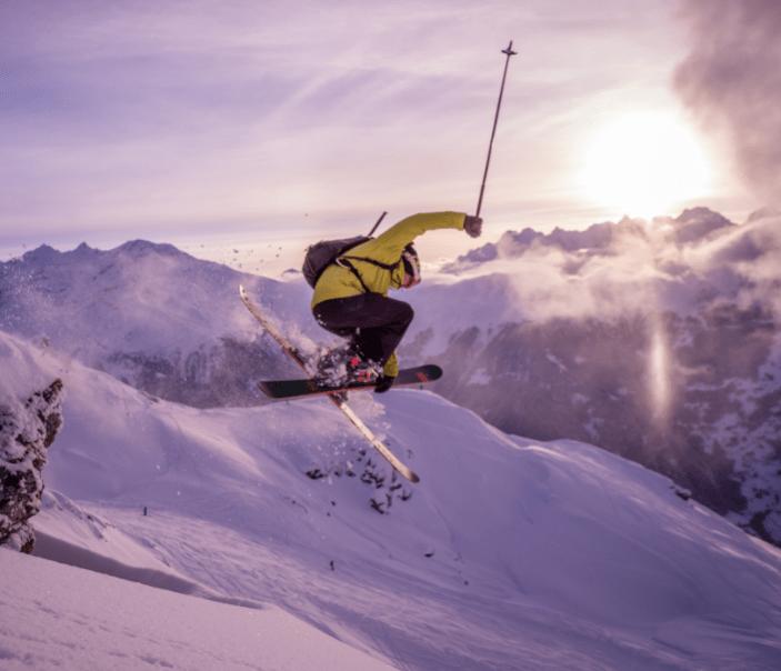 skiing ski jump snow