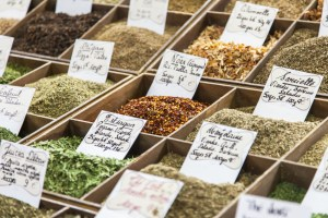 Sale of spices in the Mediterranean market