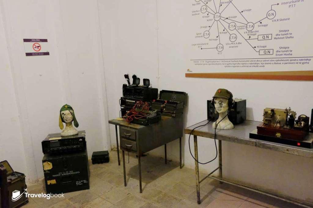 其中一個房間是Inter-communication museum通訊博物館。