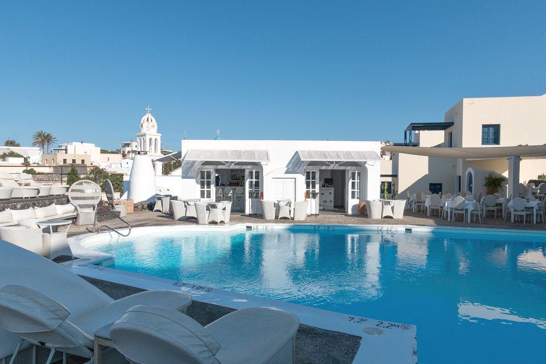 Luxe hotel op Santorini