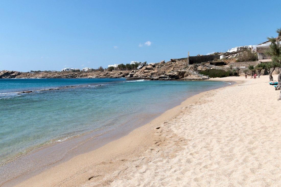 Stranden op Mykonos: Paradise Beach