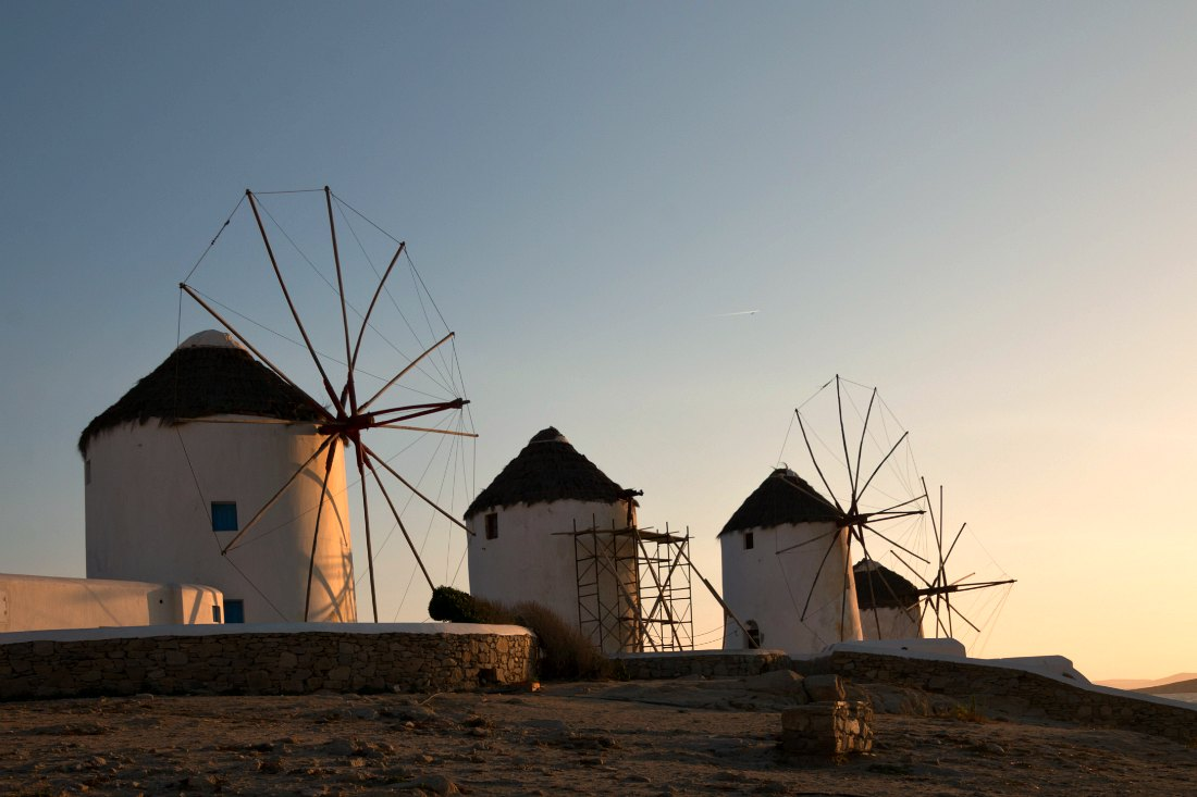 Attracties in Mykonos: De windmolens Kato Mili