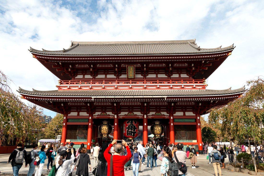 Senso-ji-tempel in Tokio