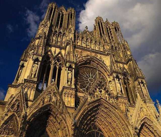 Reims Cathedral Gothic Cathedral Architecture
