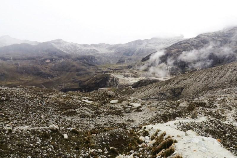 Zongo Pass am Fuße des Huayna Potosi