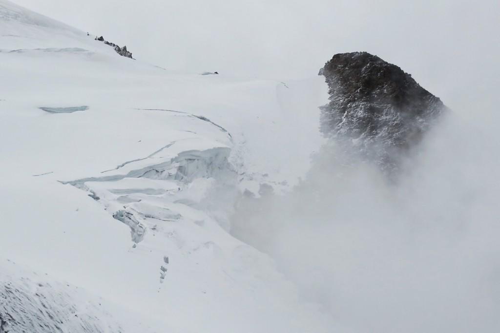 Eiswand am Huayna Potosi