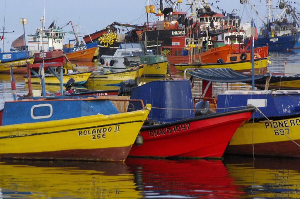 Kutter im Hafen von Arica