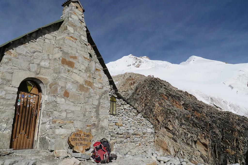Rock Camp am Huayna Potosi
