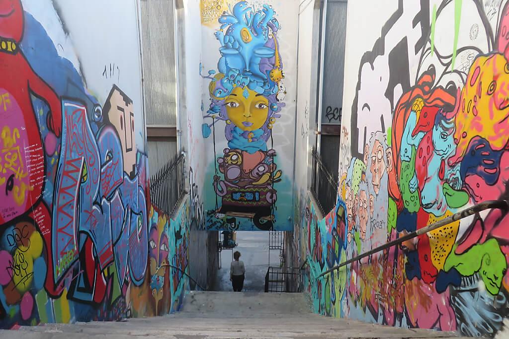 Street Art in Valparaiso in Chile