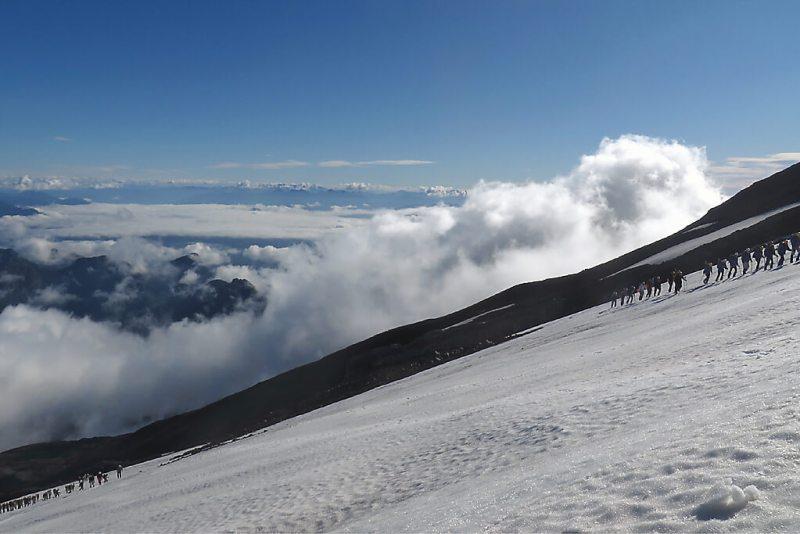 Aufstieg auf den Vulkan Villarica in Chile