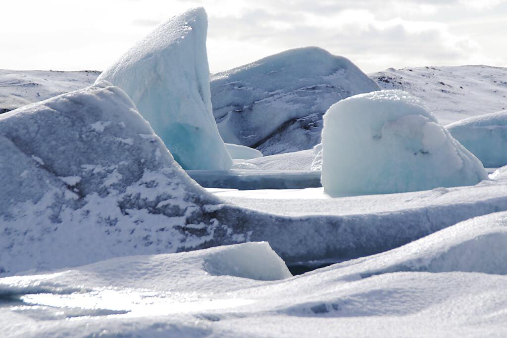 Eisberge und Gletscher Island