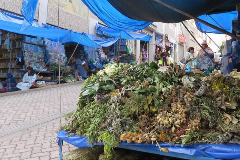 Kräutermarkt von La Paz