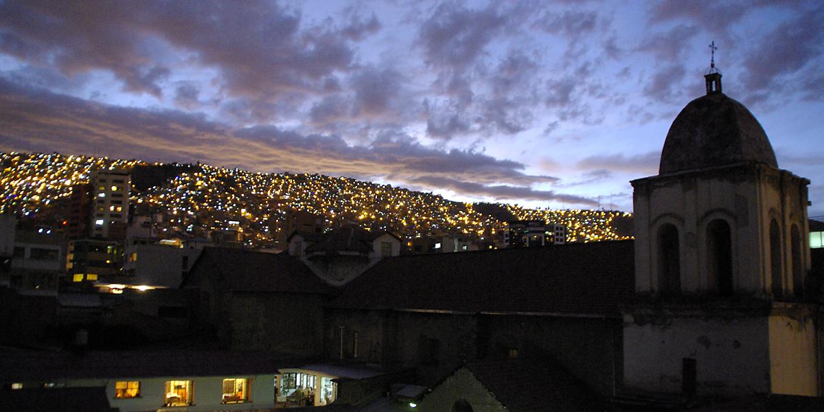 Bolivien Sicherheit: La Paz bei Nacht