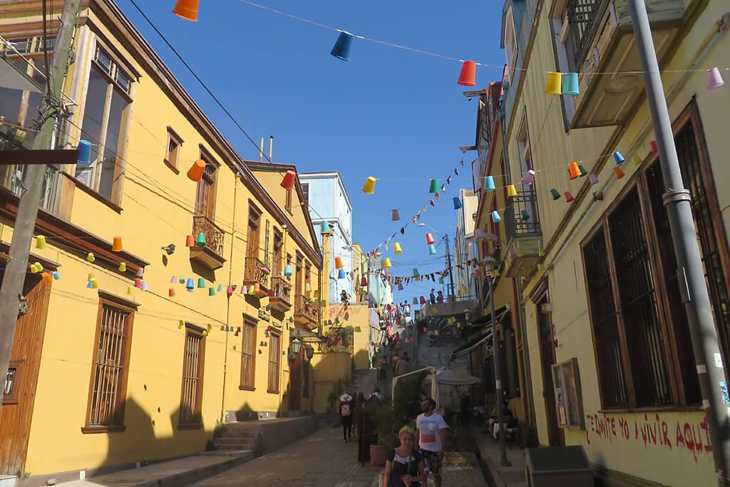 Straßen in Valparaiso Chile