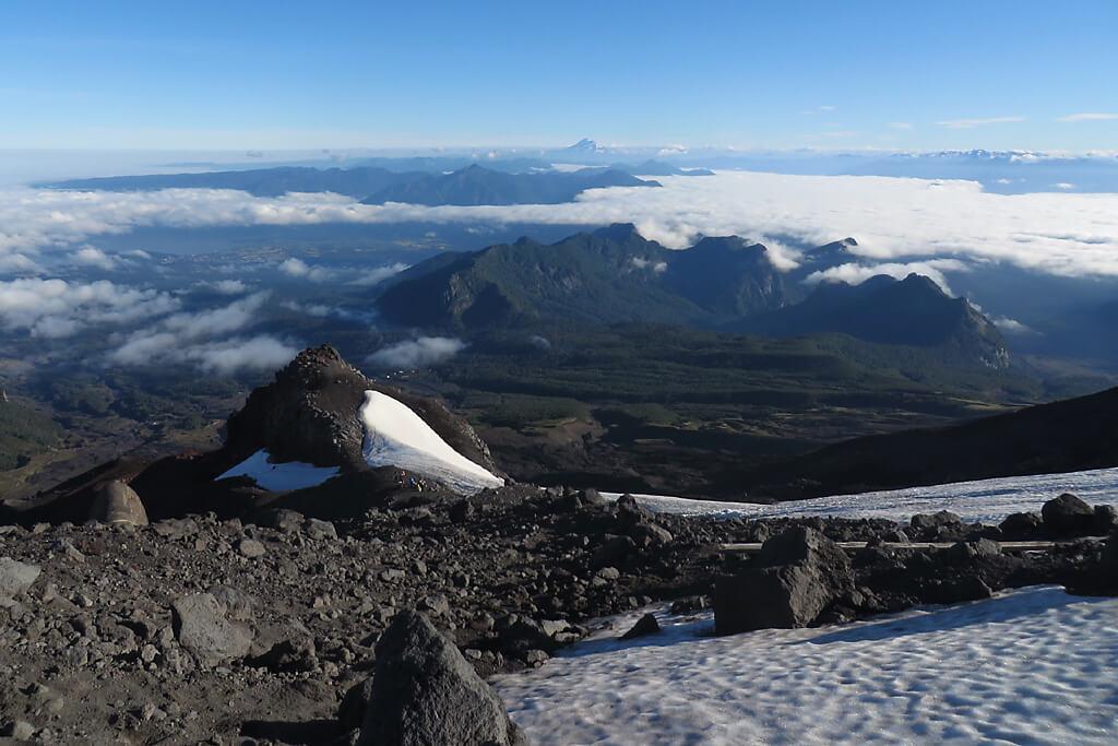 Vulkane in den Anden von Chile