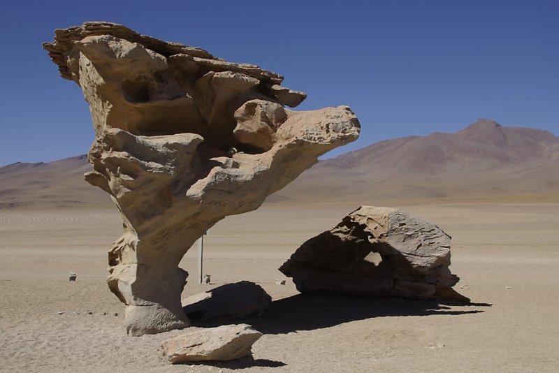 Arbol de Piedra Stein in der Wüste Boliviens