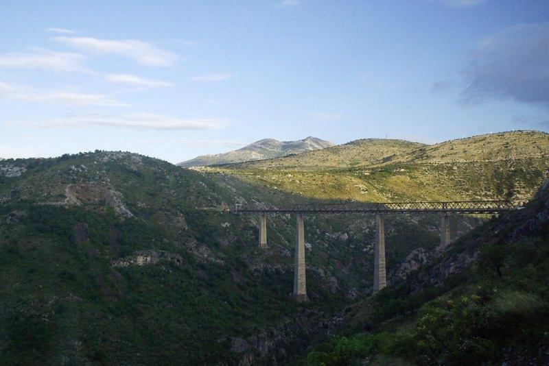 Die hächste Eisenbahnbrücke Europas in Montenegro
