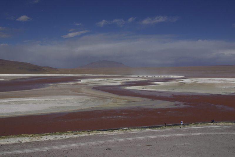 Laguna Colorade im Altiplano von Bolivien